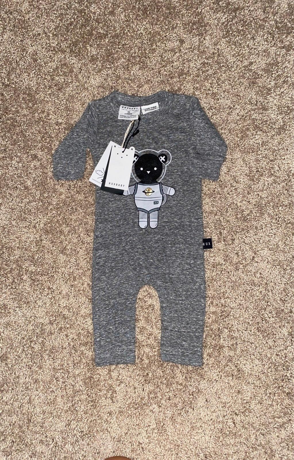 Huxbaby space bear romper gender neutral