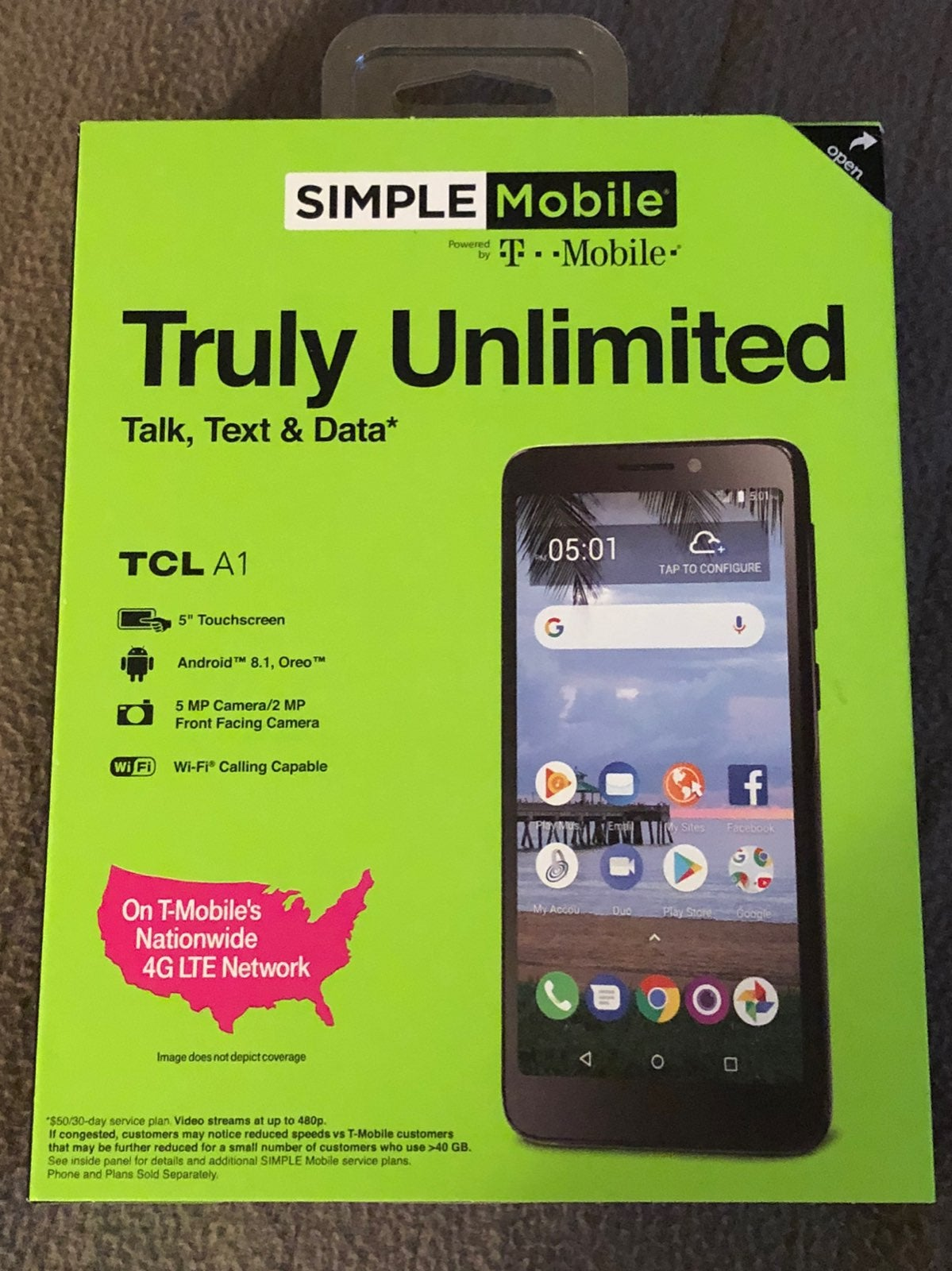 T Mobile Simple Mobile Android Cell Phon