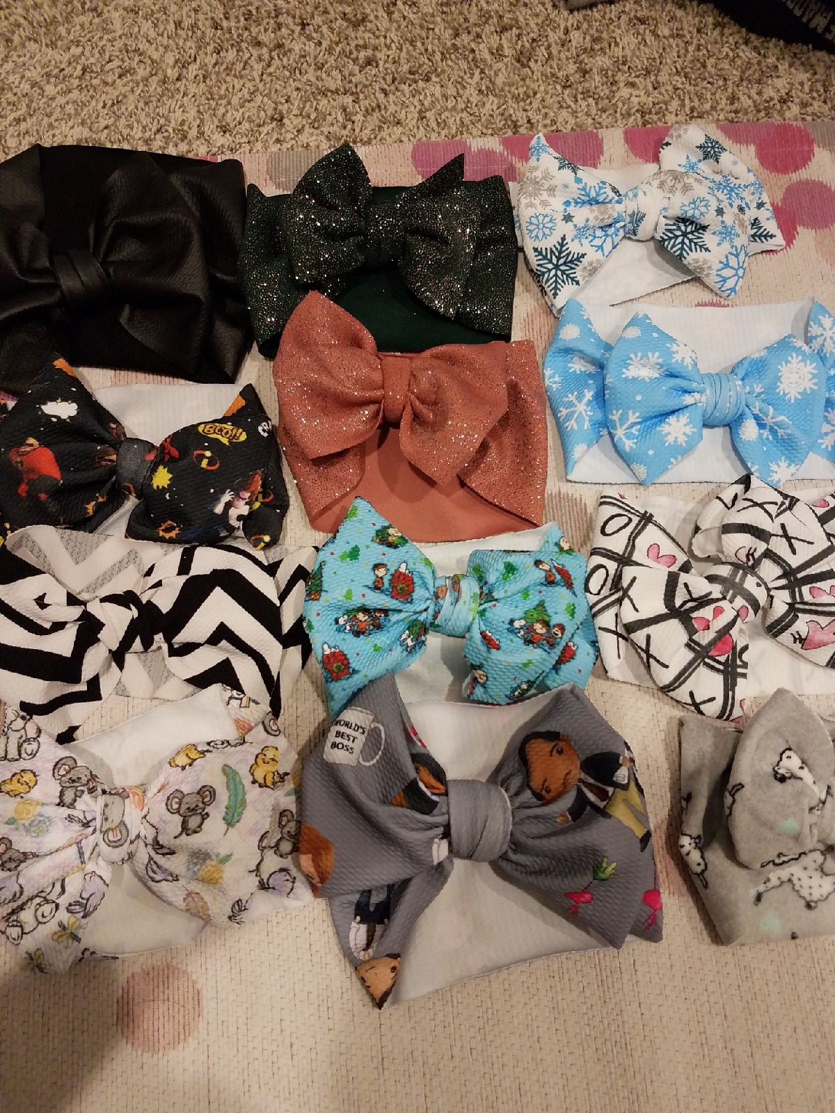 Various Toddler Headwraps 12 Pack