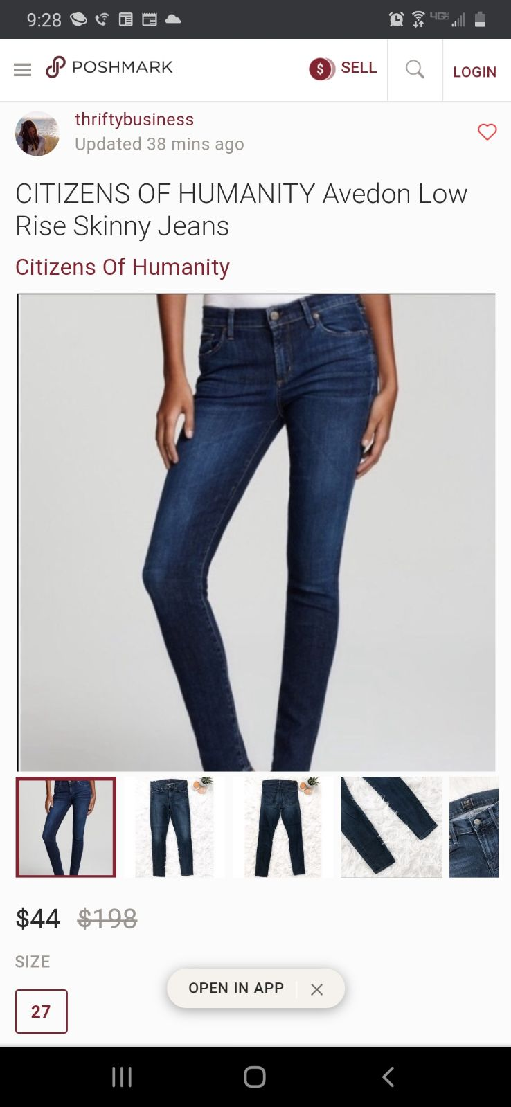 Ciztens of Humanity Jean's size 29