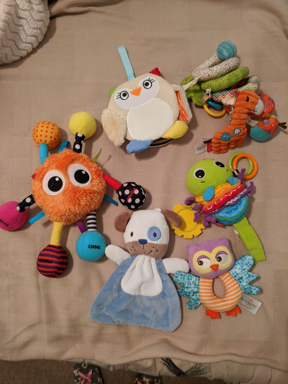 Lot of Baby Plush Crib Stroller Toys