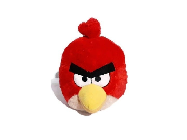 """Angry Birds Red Bird Plush Backpack 14"""""""