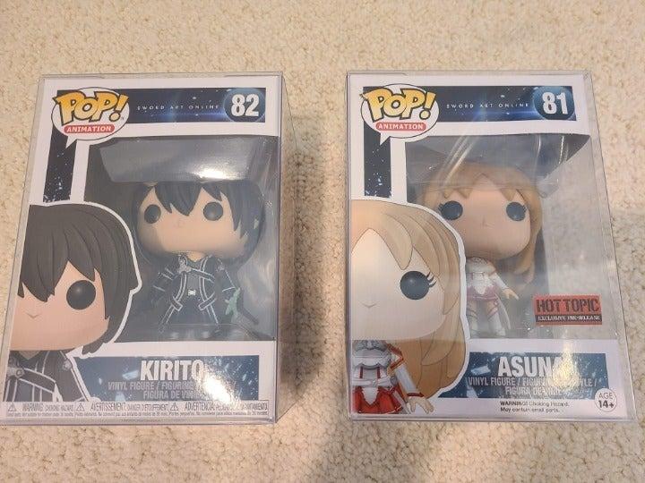 Kirito + Asuna SAO Funko POP #81 #82
