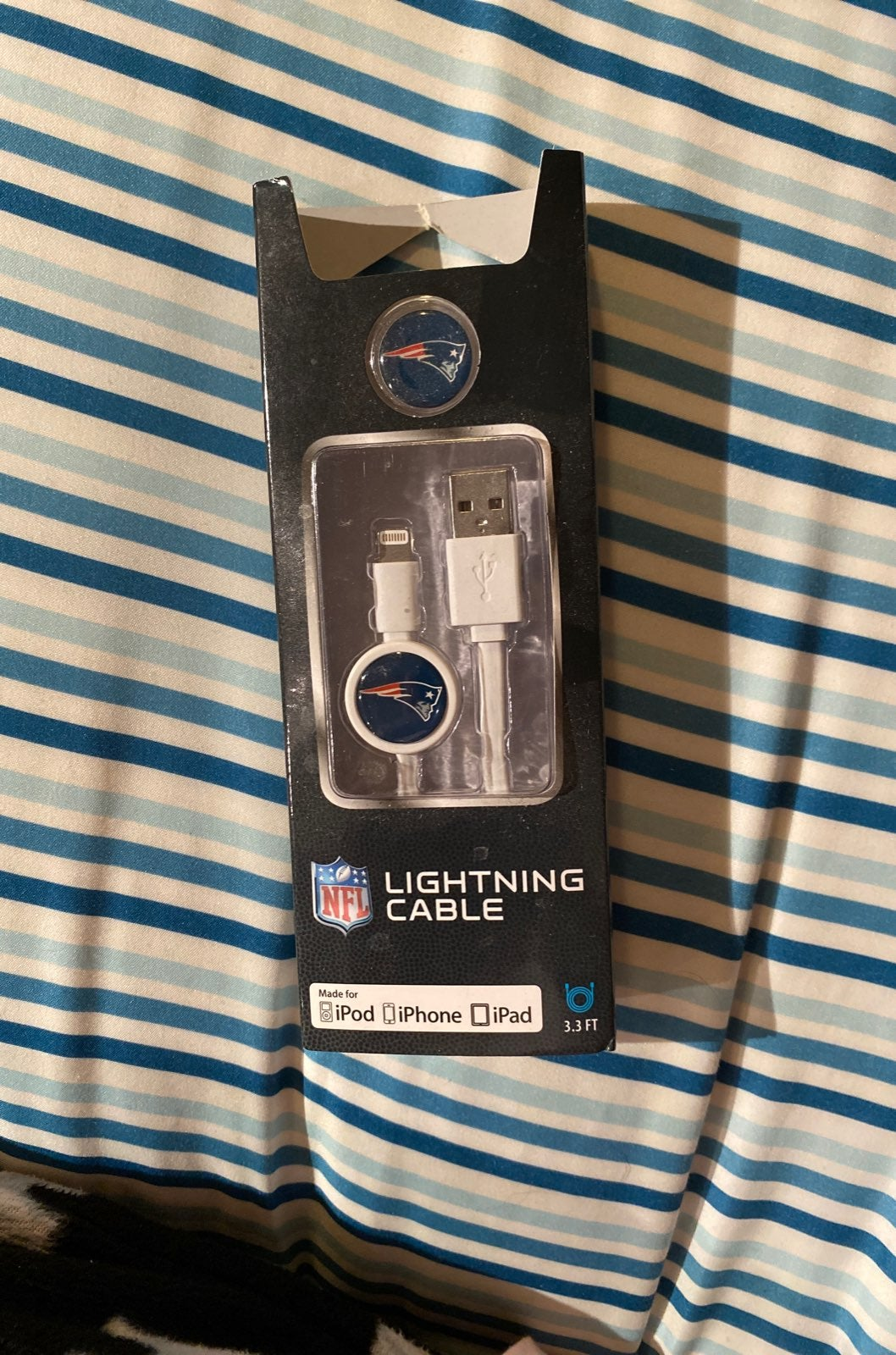 Patriots Lightning Cable For iPhone