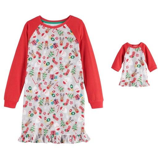 New nightgown w/doll gown Sz 7/8