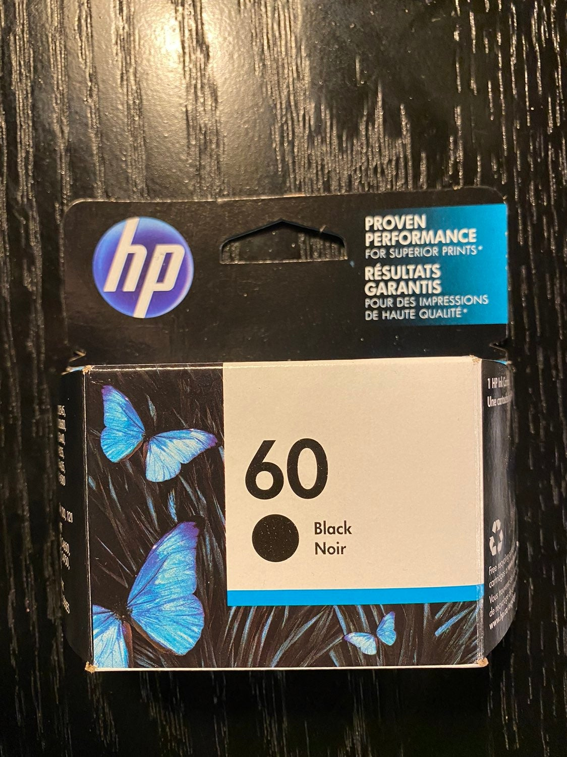 HP 60 Original Ink Cartridge in Black