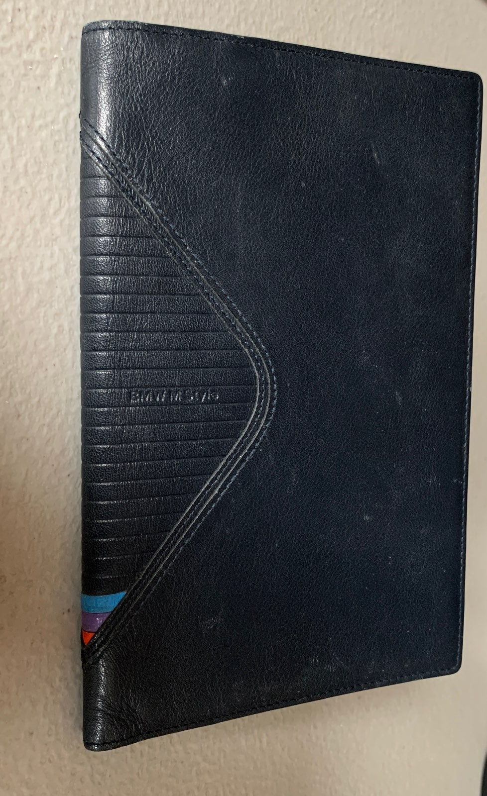 BMW M STYLE LEATHER TRIFOLD WALLET
