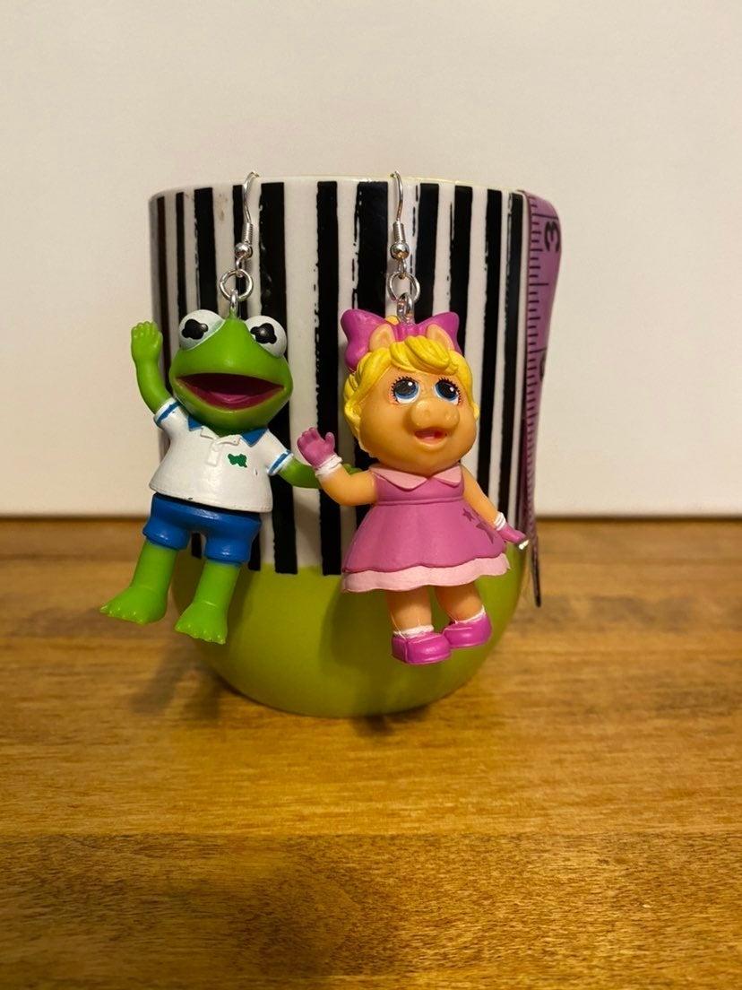 Muppet Baby Dangle Earrings Kermit