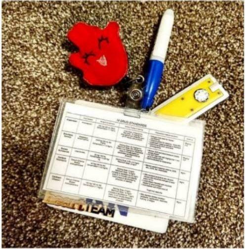 ICUnurse medication badge reference card