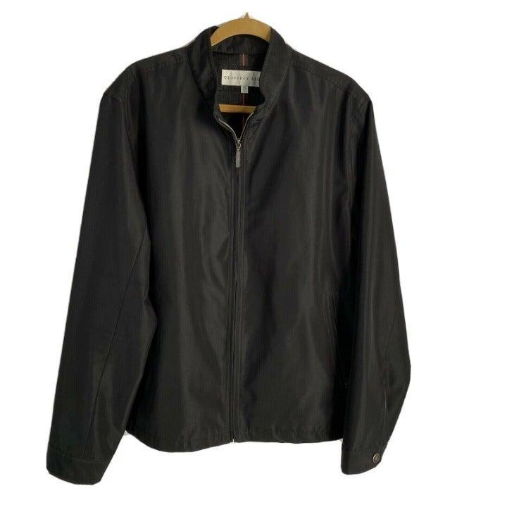 Geoffrey Beene Mens Jacket XL Black