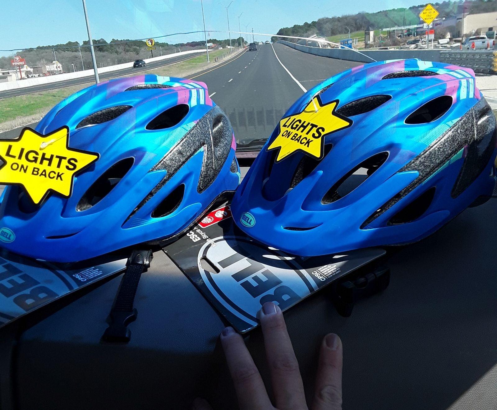 TWO (2) Bell Escape Youth Bike Helmets