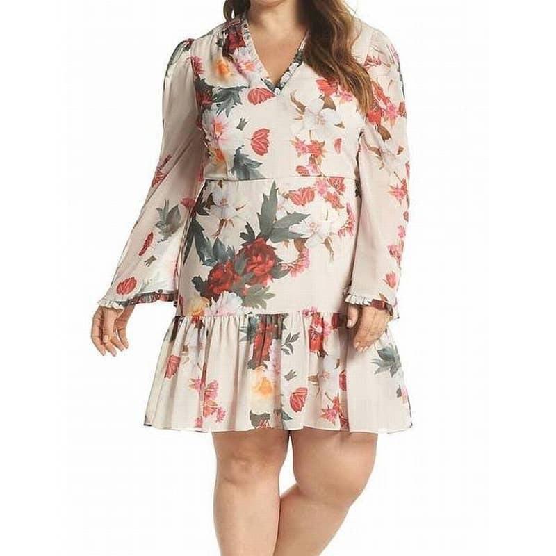 Cooper St Rosa Floral Chiffon Dress