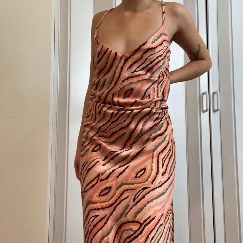 Bar III Midi Blush Pink Slip Dress