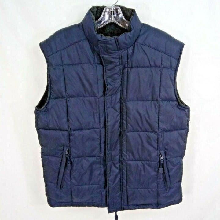 J Crew M Reversible Puffer Fleece Vest