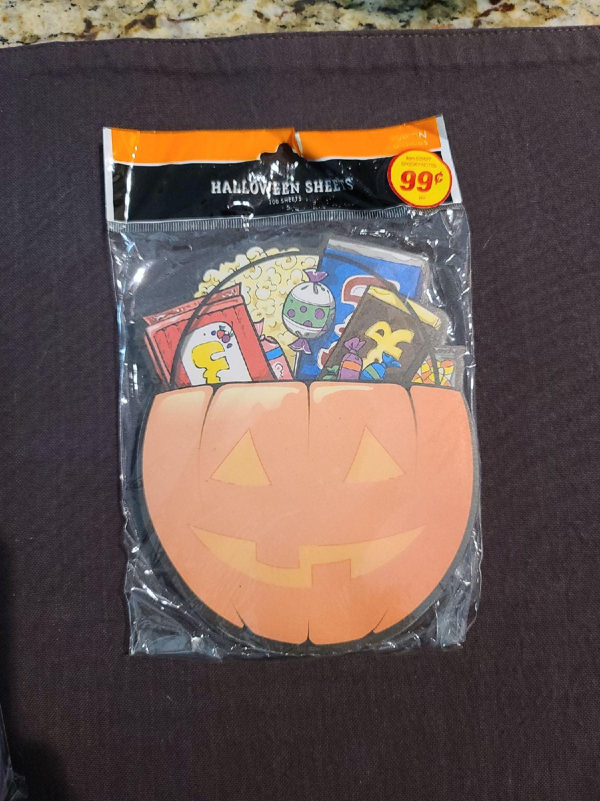 3 packs of Halloween note pads