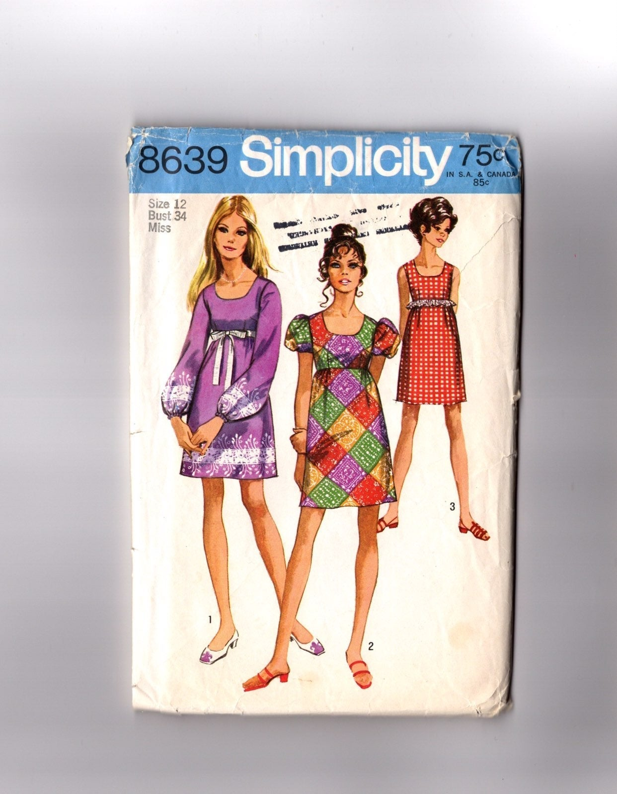 Vintage Pattern Puff Sleeve Dresses