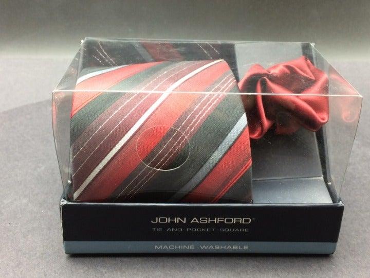 New John Ashford Tie & Pocket Square