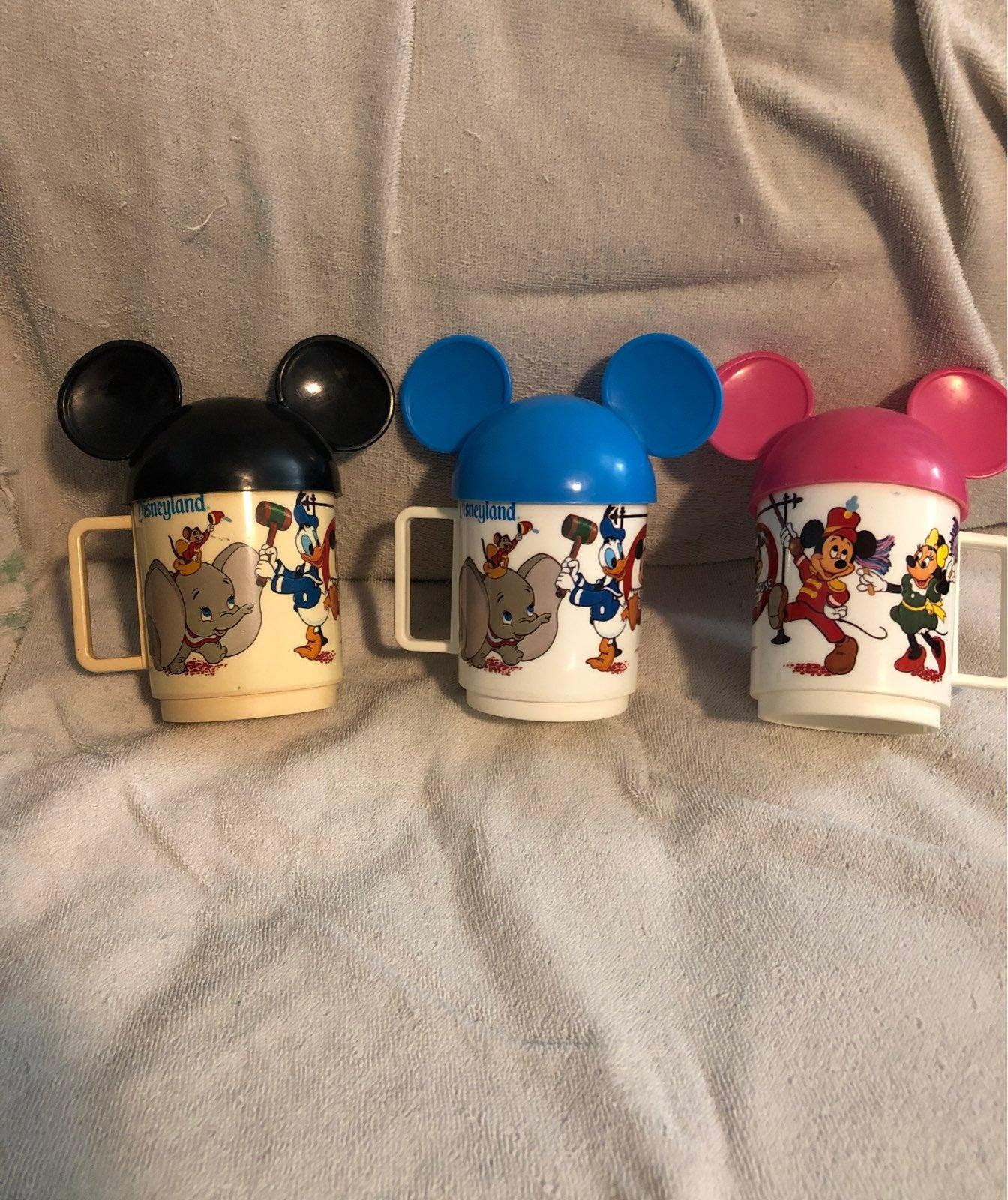 Set of vintage Mickey Mouse club mugs