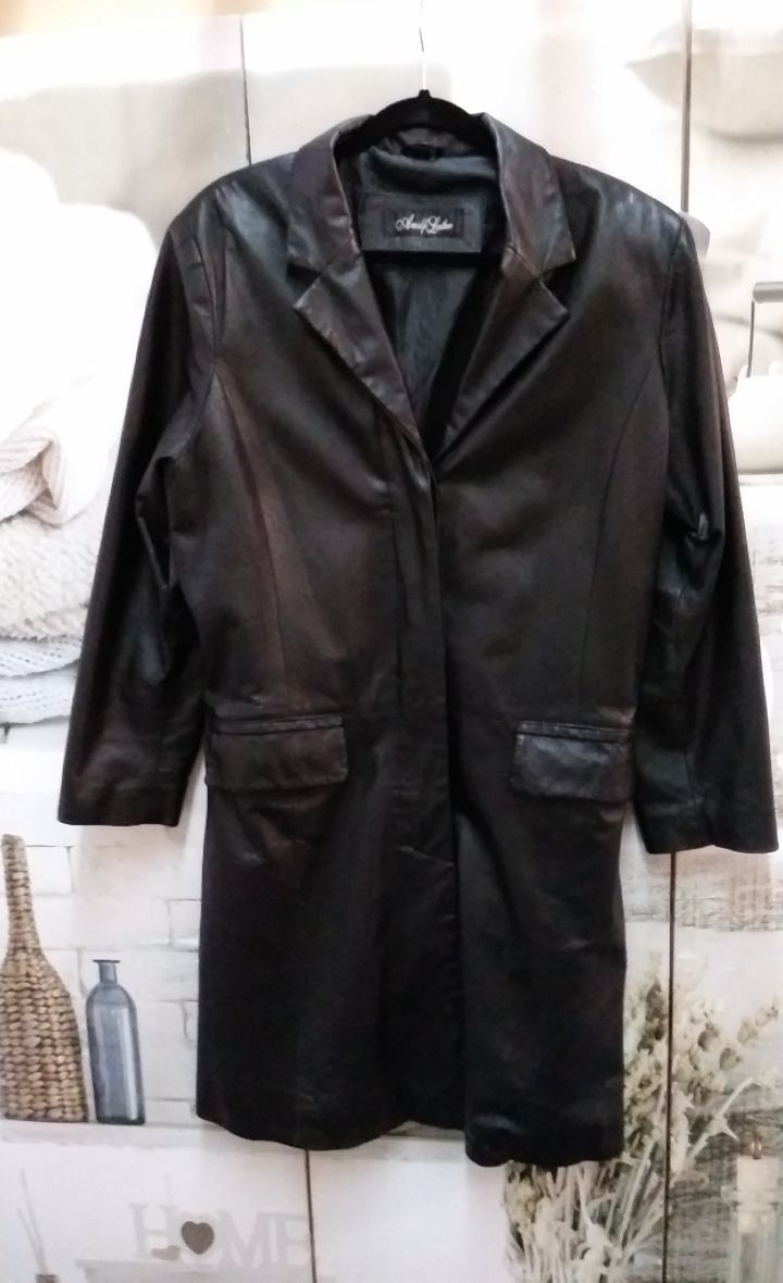 Leather Coat by Sz. M