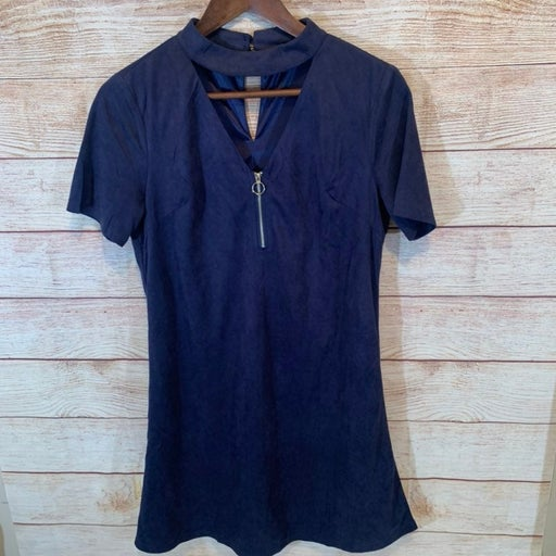 Andree by unit woman's navy blue dress s