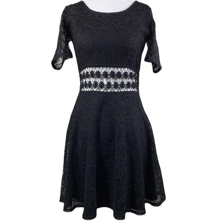 Bailey Blue Paisley Cut Out Waist Dress