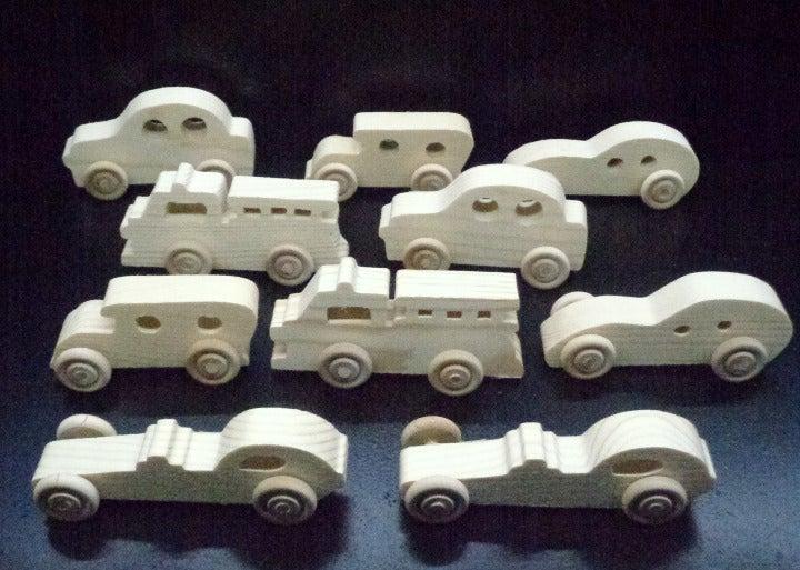 10  Wood Toy Vehicles OT-90-10-AH