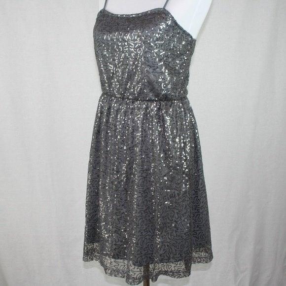 ISSI Sequin Dress In Gray Junior's Sz M