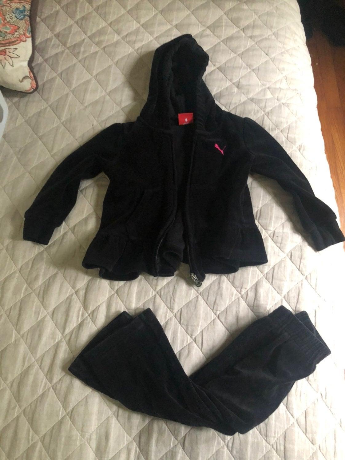 Girls puma sweatsuit