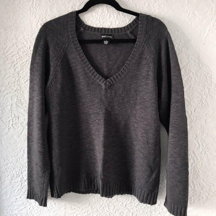 Knit V-Neck Sweater