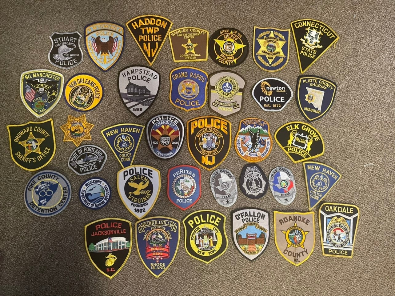 lot of tons of police patches