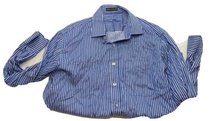 Louis Philippe Men's Blue Button Up sz L