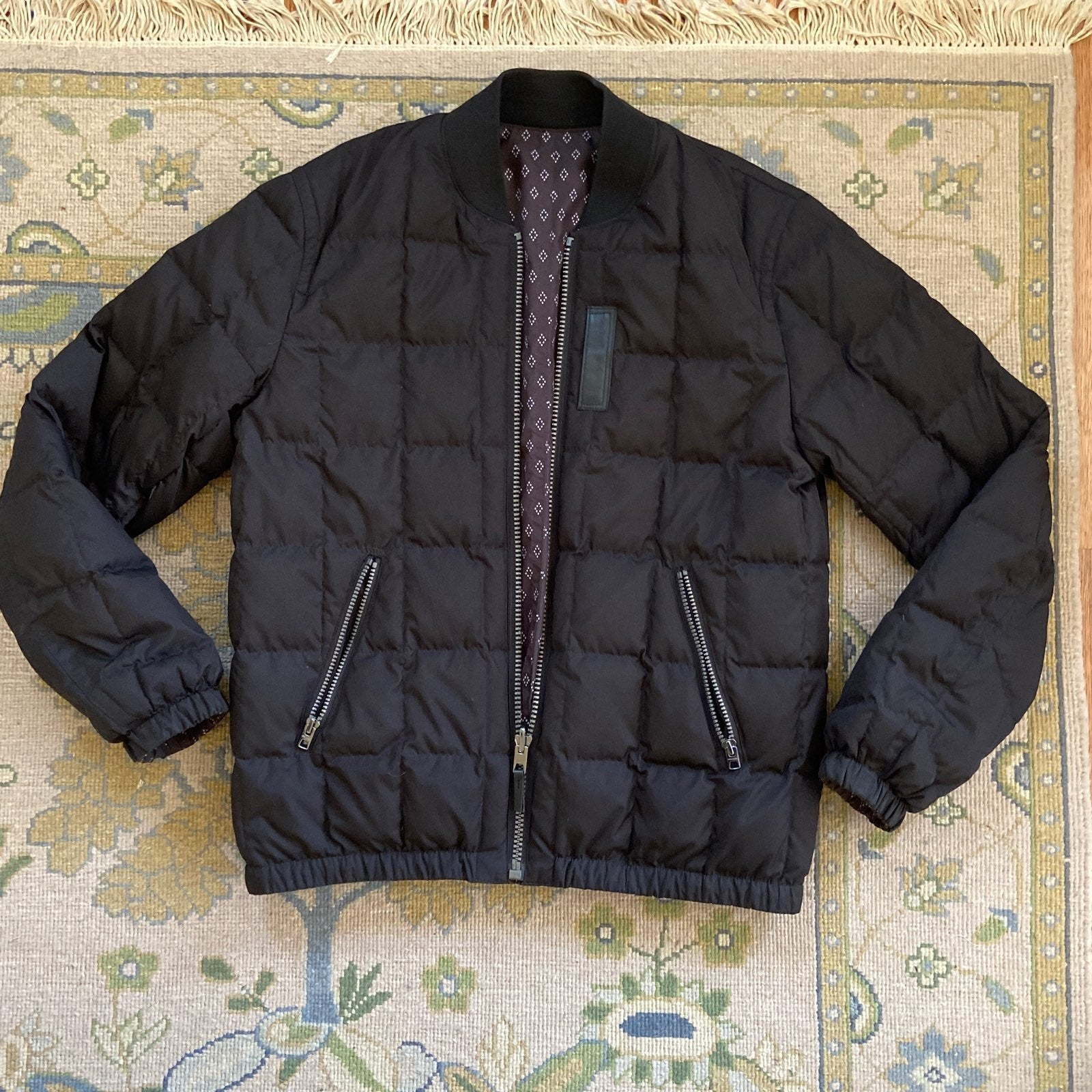 Coach Mens reversible bomber jacket S