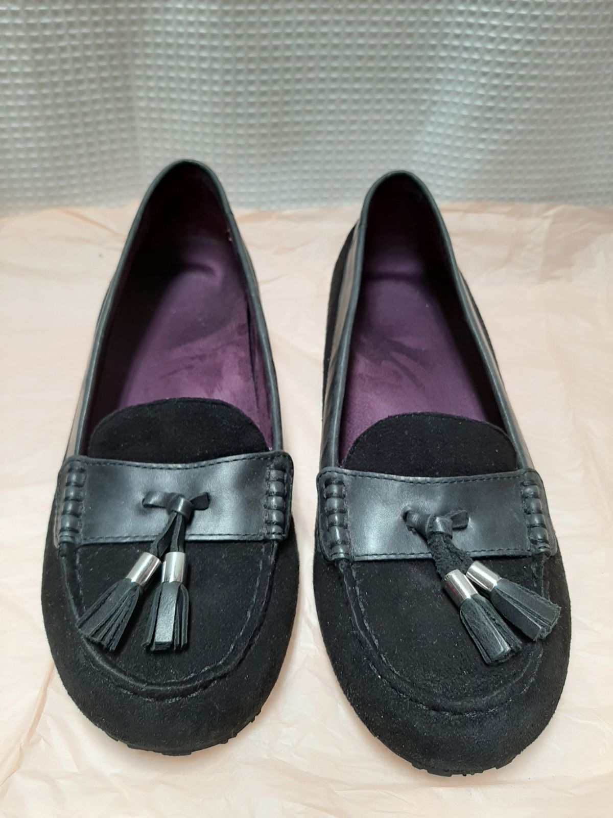 Weil Black leather moccassin Loafers