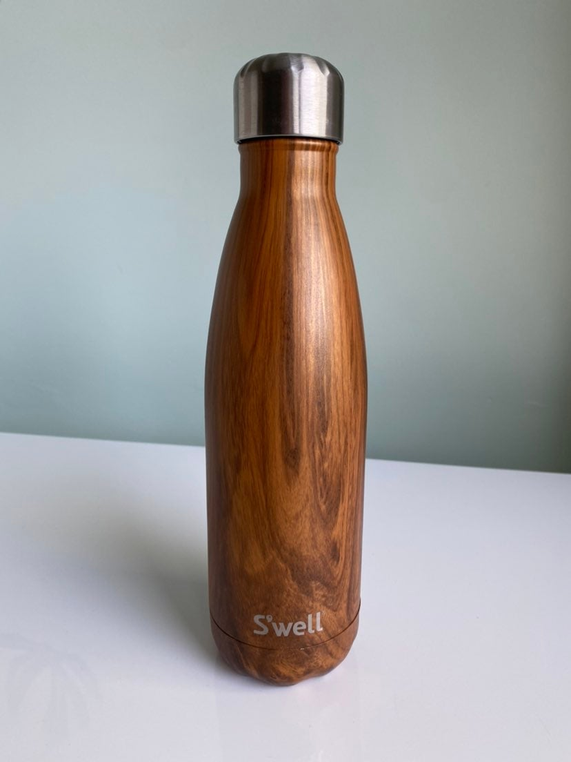 s 'well Water Bottle 17oz teakwood