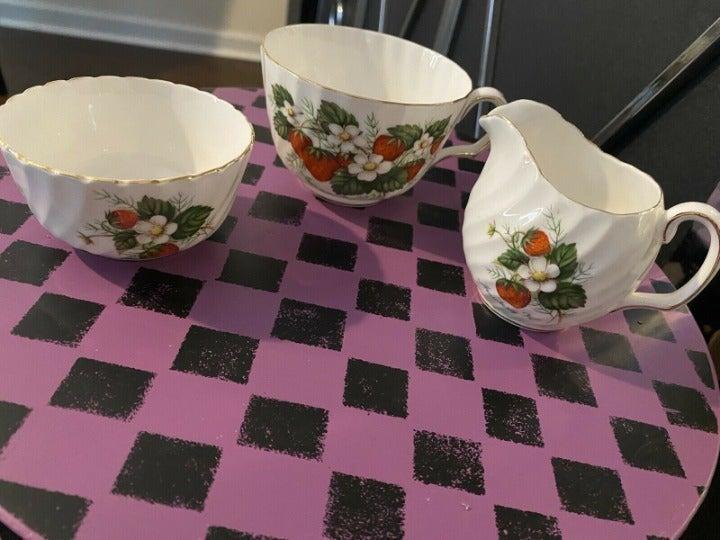 Vintage Royal Adderley Strawberry Set