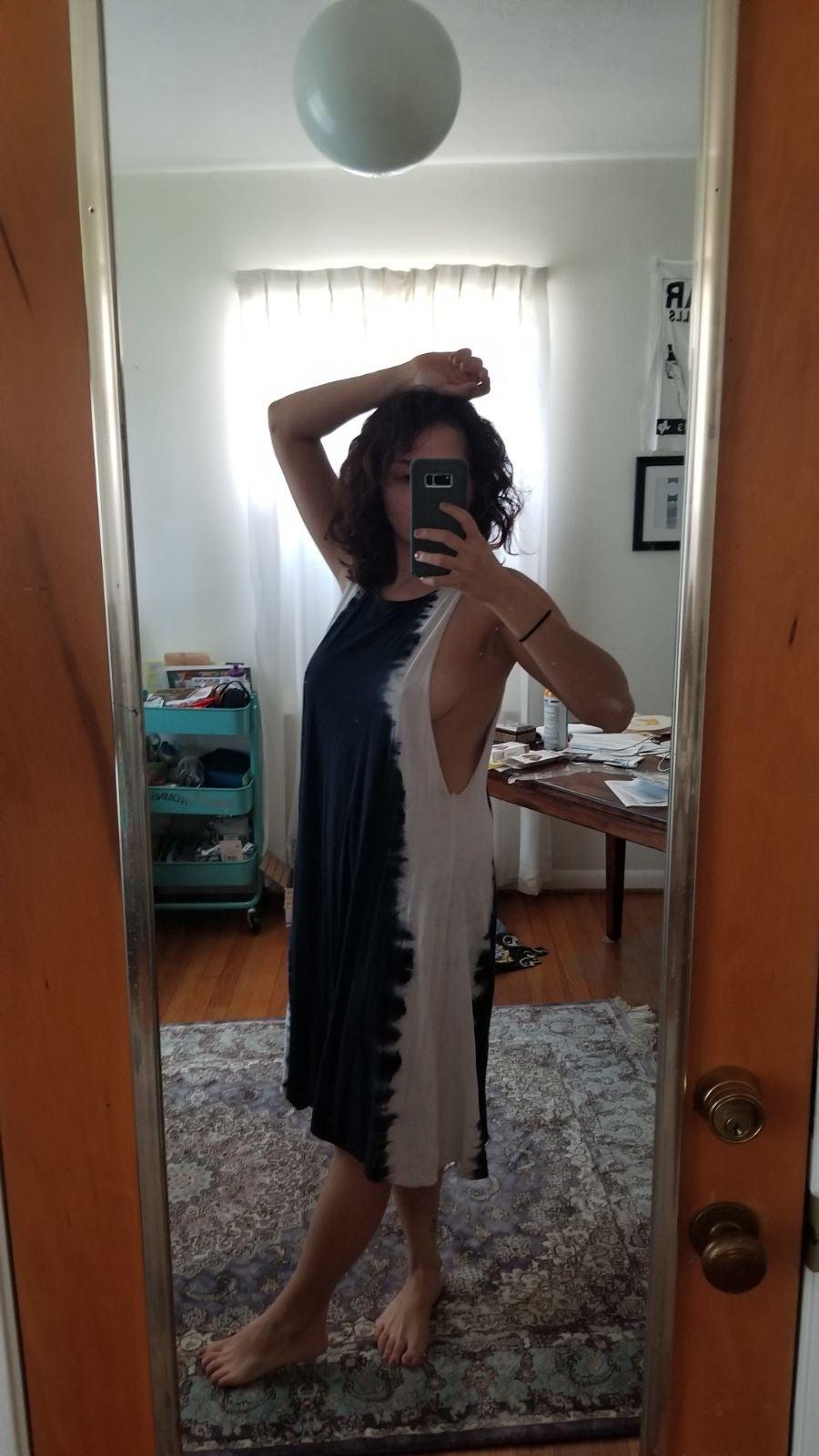 Volcom midi tie dye tank boho dress