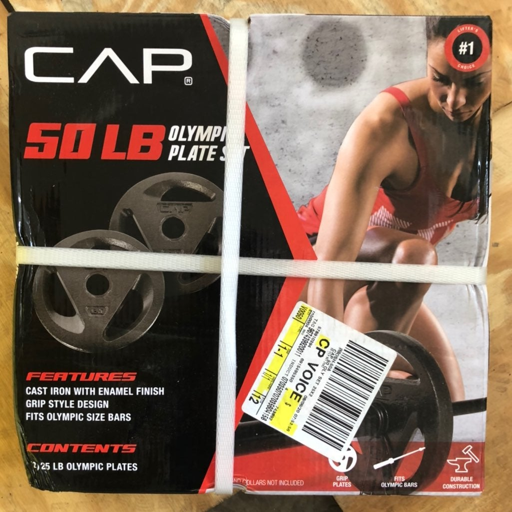 CAP Olympic Weight Plate Set (2) 25LB