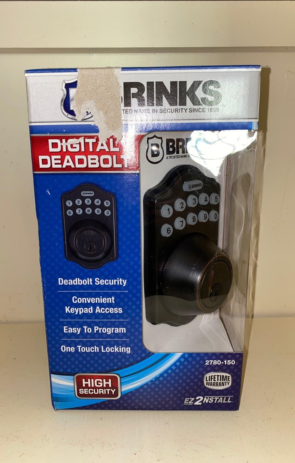 Brinks digital deadbolt