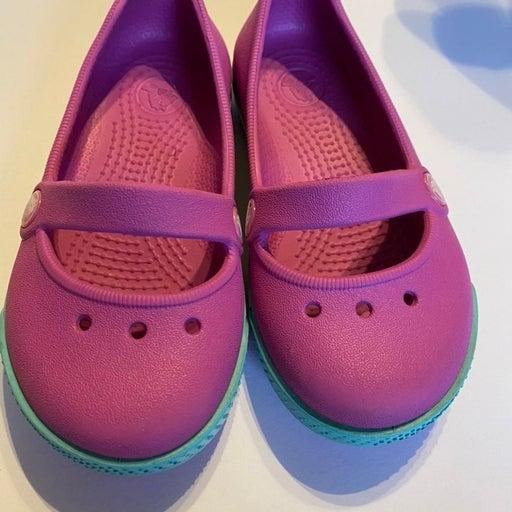 Crocs Pink Mary Jane Toddler