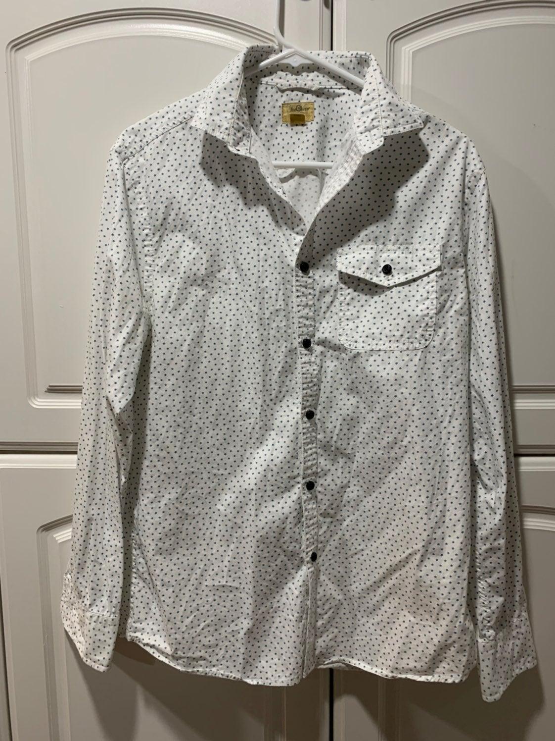 button down shirt men casual