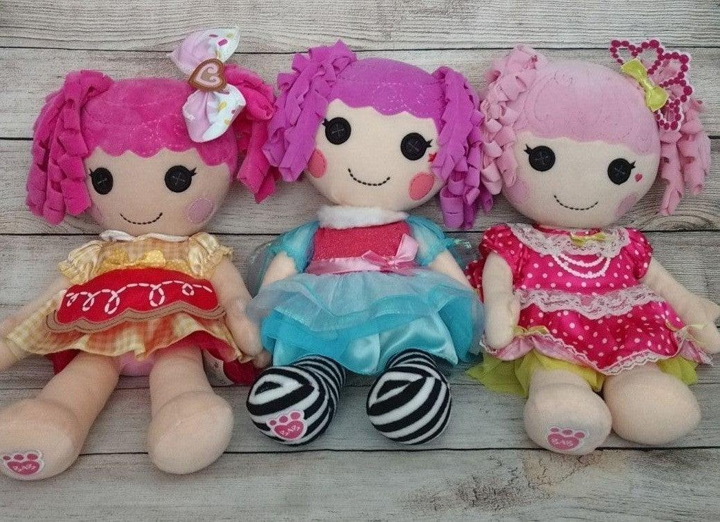 """3 Lalaloopsy Plush 22"""" Build A Bear Doll"""