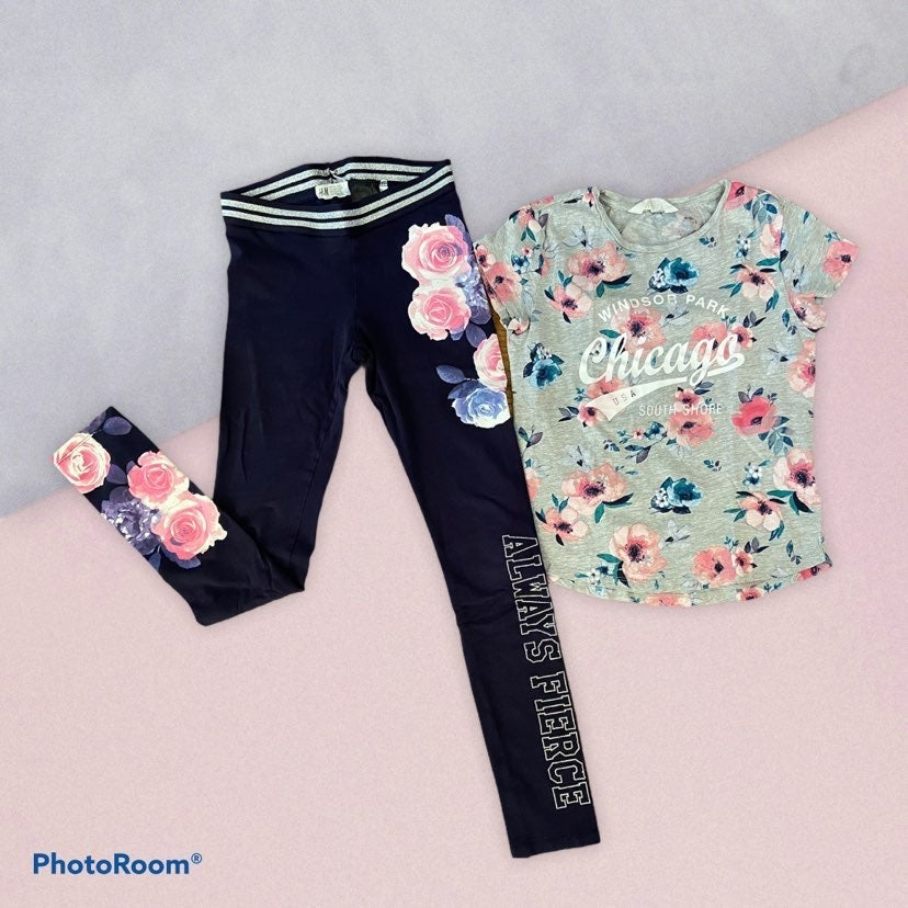 Girls H&M Top and Pants Set size 9-10