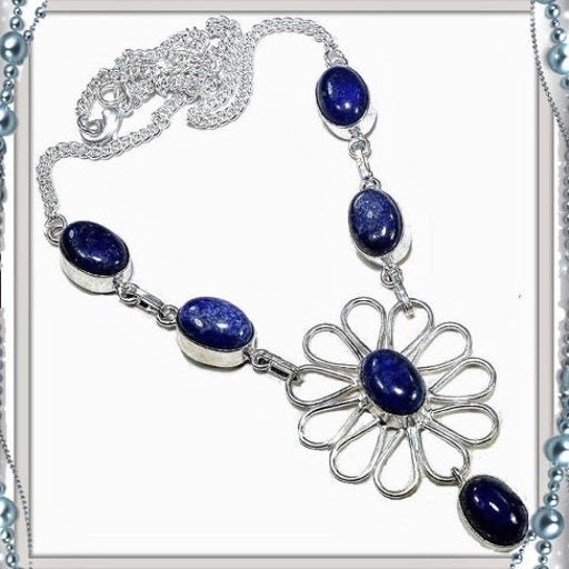 New Blue Lapis Sterling Silver Necklace