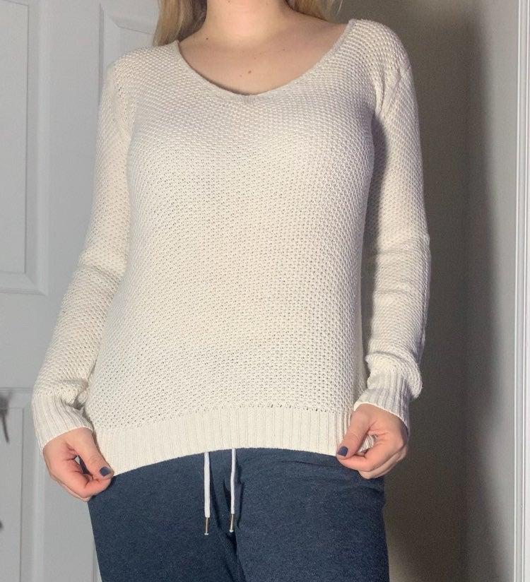 Wet Seal Cream Knit Sweater