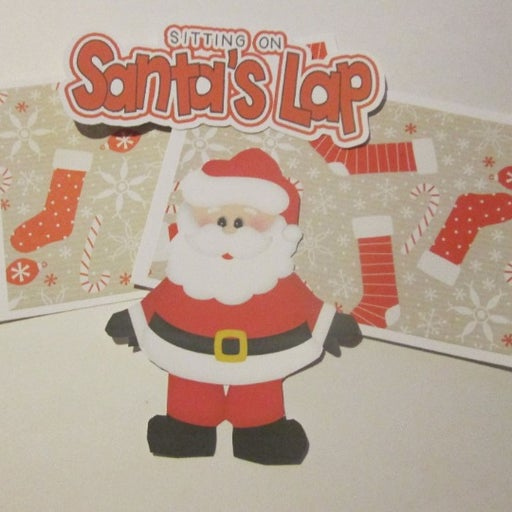 Sitting On Santa's Lap a - Scrapbook or Card Set