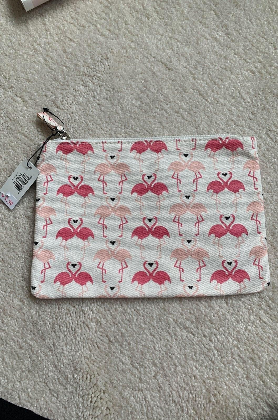 NWT Express Flamingo makeup bag
