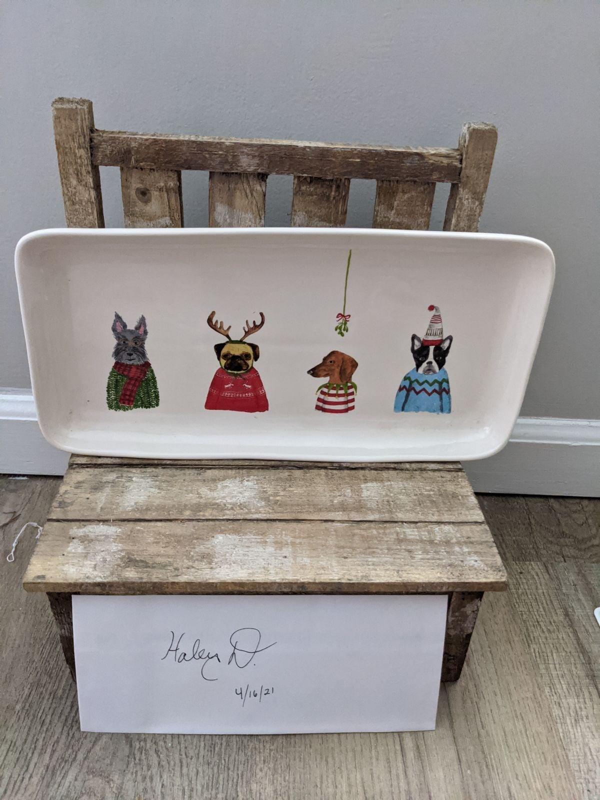 Rae Dunn Christmas platter