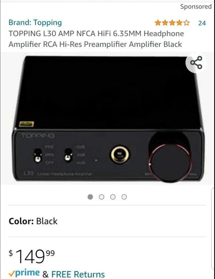 Topping L30 HiFi Headphone Amplifier