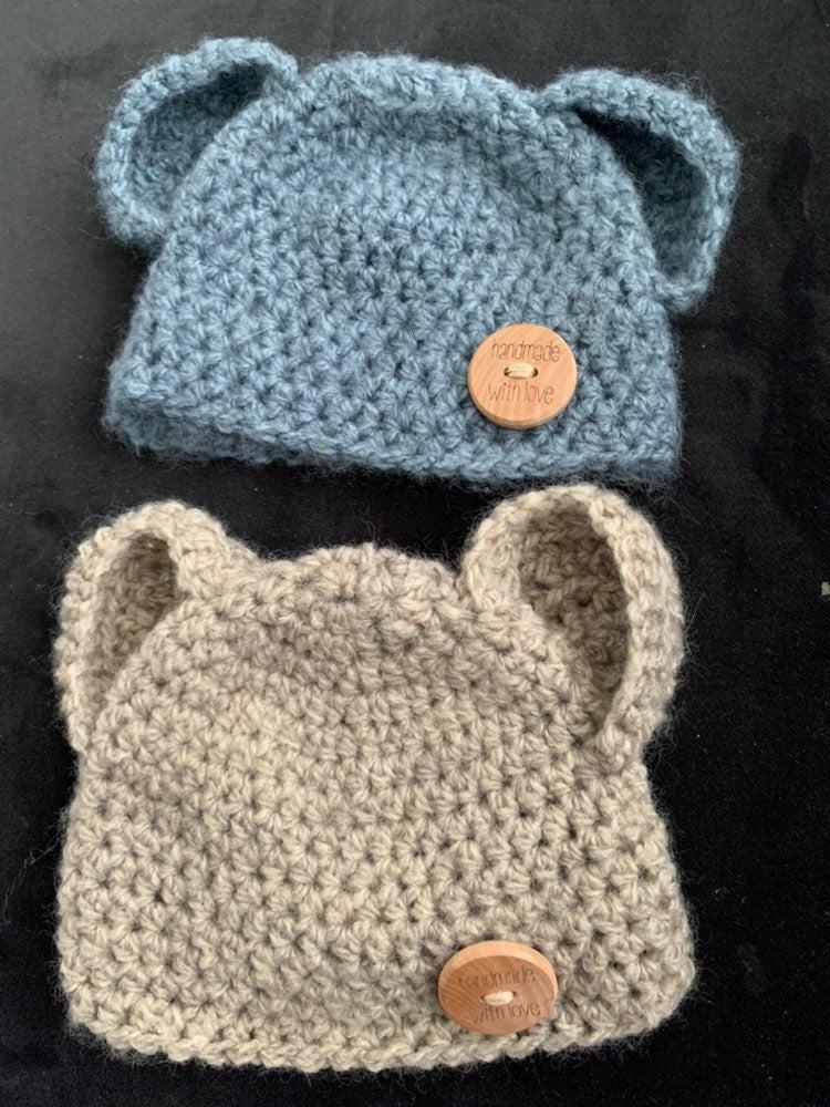 Handmade knit hats newborn