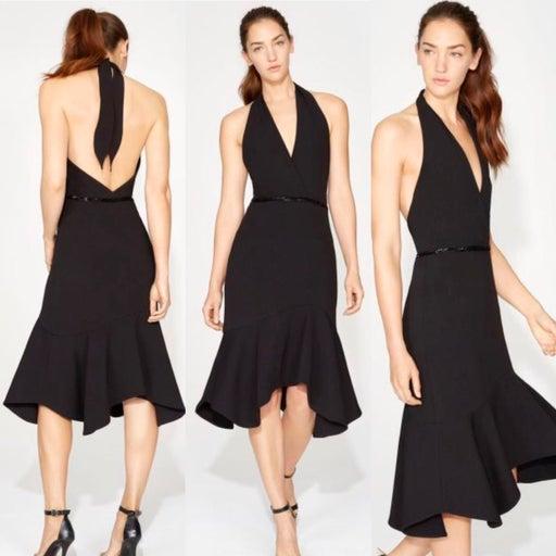NWT $325 Halston Heritage Halter Dress